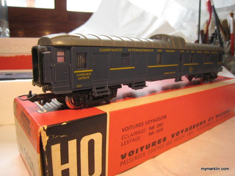 Jouef 5630 fourgon compagnie internationale des wagons - Compagnie des wagons lits recrutement ...