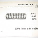 Marklin 5146 Marklin 5147 Marklin 5213