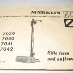 Marklin 7039, 7040, 7041, 7042