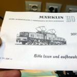 Marklin 3015 istruzioni