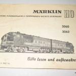 Marklin 3060, Marklin 3062 (5)