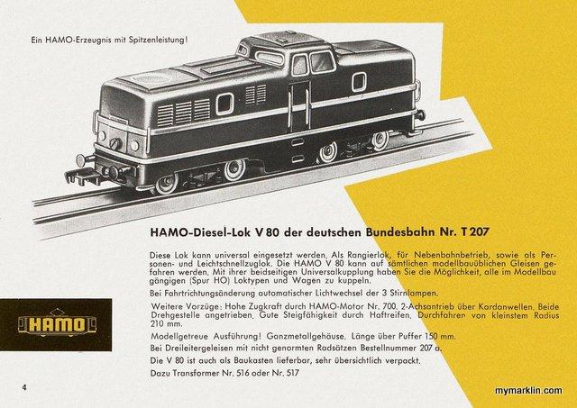 Catalogo Hamo del 1960