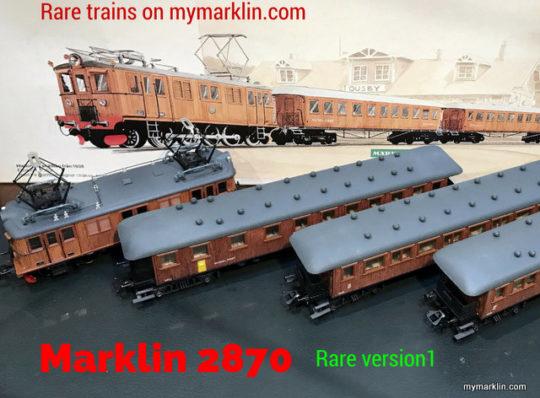 Marklin 2870 rare versione 1 – special focus