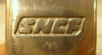 Portacenere SNCF in metallo anni 70