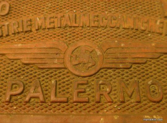Targa carri merce FS della IMER di Palermo
