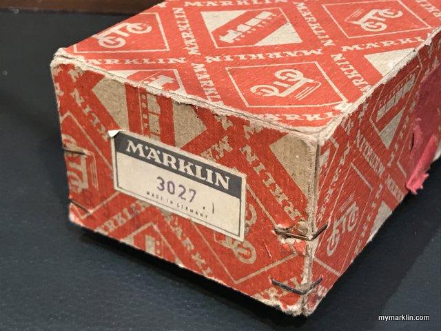 scatola orginale marklin e storia della 3027 (1)